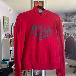 Simple bright red hoodie